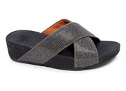 FITFLOP CRYSTALL SLIDE<br>gris
