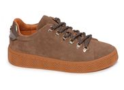 NO NAME GINGER SNEAKER SUEDE<br>marron