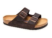 BIRKENSTOCK ARIZONA SFB CUIR<br>marron