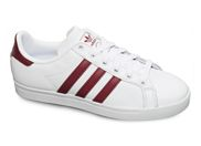 ADIDAS COAST STAR<br>blanc bordeaux