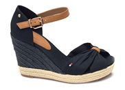 TOMMY HILFIGER BASIC OPENED TOE HIGH 4784<br>bleu
