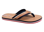 TOMMY HILFIGER ELEVATED LEATHER BEACH SANDAL 3384<br>marron