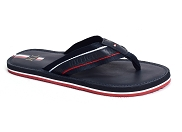 TOMMY HILFIGER ELEVATED LEATHER BEACH SANDAL 3384<br>bleu