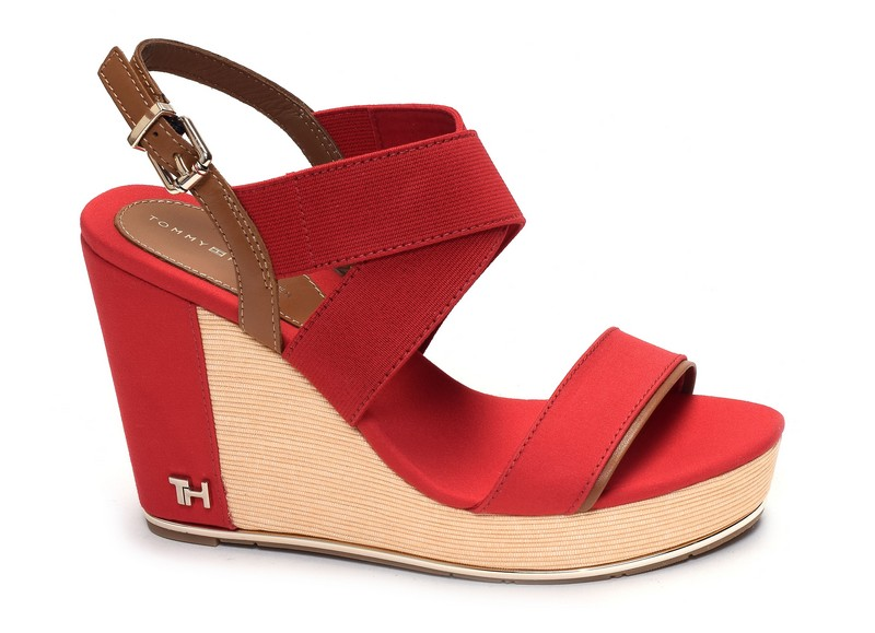 Tommy hilfiger sandales compensees Th hardware basic high 4731